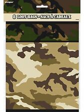 8 x Army Camouflage Party bags (8 Loot bags)
