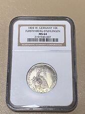 1804 W. Germany 🇩🇪 FURSTENBERG-STUHLINGEN 10 Kreuzer MS 64 SILVER COIN -SCARCE