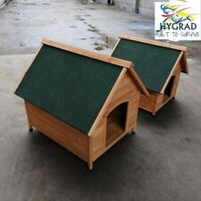 Outdoor Medium/Large Dog Winter House Pet Wood Dogs Kennel Shelter Easy Cleaning