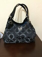 COACH  MADISON OP ART BLACK MAGGIE HOBO SHOULDER BAG RARE 20244 RV$298.00