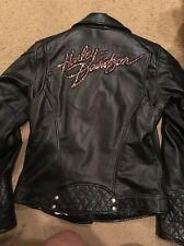 Harley Davidson Women's PINK LABEL Embellished Black Leather Jacket 98022-12VWS