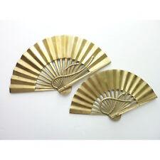 Vintage solid BRASS Japan FAN Asian set