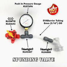 BlowTie Diaphragm Spunding Valve and Adjustable Pressure Relief Gauge Ball GOOD