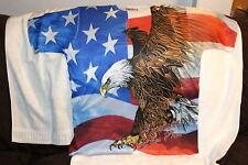 EAGLE EAGLES AMERICA FLIES FREE AMERICAN FLAG T-SHIRT SHIRT