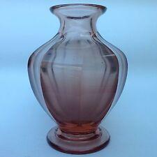 Art Deco Design Glas Vase Rosalinglas sig. Reichsapfelmarke Moser Karlsbad ~1925