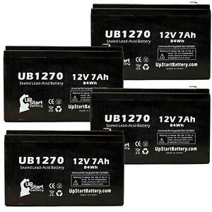4x 12V 7Ah Sealed Lead Acid Battery For Kung Long WP7.2-12 UB1270