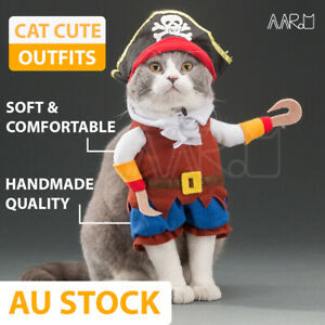 【 Cute outfits 】Pet Cat Dog Cloth Costume Dress up Jumpsuit Halloween Christmas