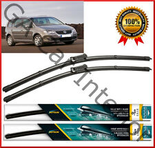 "VW Touran 2007 2008 2009 2010 Facelift  Front Pair Flat Aero Wiper Blades 24""18"""
