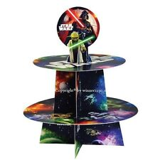 STAR WARS Darth Vader & Yado 2 Tier Cardboard Cake Stand + Topper Fit 12 Cupcake