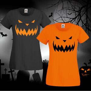 Halloween Costume Unisex,Ladies fit T-shirt Top Pumpkin Horror Fancy Dress New.