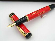 HERO 3013 Eight Horse Patttern Golden Trim Medium Nib Fountain Pen