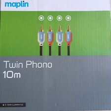 NEW Boxed 10m Twin Phono RCA high quality audio cable Maplin 10 Metre
