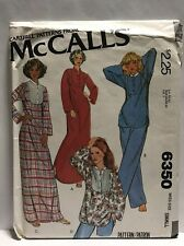 McCalls Carefree Pattern #6350 Size Small