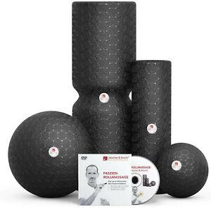 Liebscher und Bracht Set: Faszienrolle und Faszienball(je2Stück)Training Muskeln