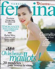VERSION FEMINA MAGAZINE - BEAUX MAILLOTS - REVUE MAG MODE FEMME PEOPLE 2018 TBE