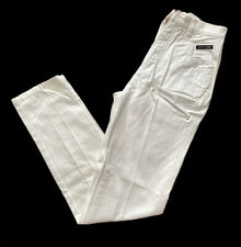 Vintage Western  ETHICS Women's  White Mom Jeans Size 7/8 X 36 NEW High Waist