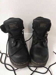 Dr martens steel toe cap work boots size 6