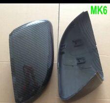 Golf MK6 MkVI de fibra de carbono Hydro sumergido efecto ala Espejos GTD GTI R TDI Touran