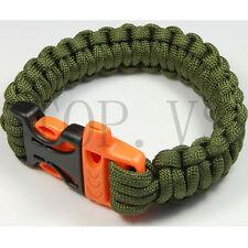 Paracord 550 Camping Para Bracelets Buckle Survival Hiking Hunting Whistle #2_Sx