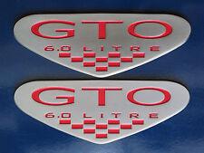 2005-2006 Pontiac GTO LS2 6.0 Litre V8 Engine Shield Fender Badge Pair 3 colors