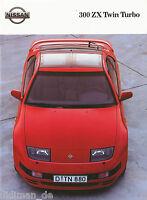Nissan 300 ZX Twin Turbo Prospekt 1992 6/92 brochure Autoprospekt prospectus PKW