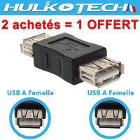 Coupleur Adaptateur Connecteur USB 2.0 A Femelle / Femelle - Rallonge Cable USB