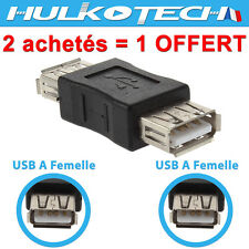 Adaptateur USB Femelle Femelle F/F ✔ Fiche Coupleur Rallonge pour Câble USB mâle
