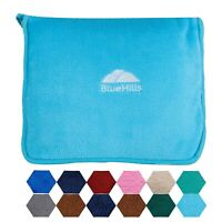BlueHills Premium Soft Travel Blanket Pillow Airplane Blanket Throw - Sky Blue