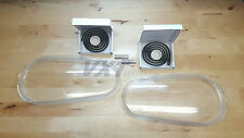 99-05 VW GOLF GTI R32 MK4 REPLACEMENT GLASS HEADLIGHT LENSES - PAIR