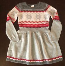 Gymboree GINGERBREAD Sweater Dress NWT 7 8 FairIsle Heart Print Pink /& Green