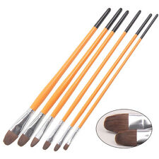 Paint Brush 6Pcs Horse Hair Paint Brushes Set For Acrylics-Oils And Other Medium