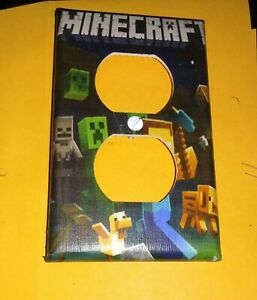 Custom Handmade Minecraft Style Three - Electric Outlet Wall Plate