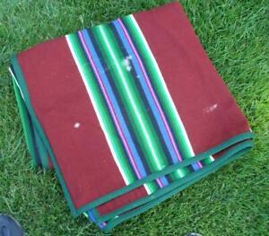 "PENDLETON Beaver State Wool Blanket 78"" x 64"" SOUTHWEST Multicolor Stripes"