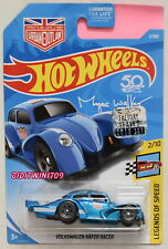 HOT WHEELS 2018 LEGENDS OF SPEED VOLKSWAGEN KAFER RACER BLUE FACTORY SEALED W+