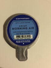 1 Scentportables Crisp Morning Air Disc Air Freshener Car White Oak Amber BBW