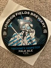 More details for london fields brewery round fish eye beer badge - new - hackney hipster abv 4.2%