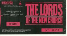 RARE / TICKET CONCERT - THE LORDS OF THE NEW CHURCH : LIVE MARSEILLE FRANCE 1985