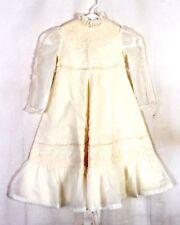 vtg Girls euc Frilly Layer Sheer Smocked Dress Baptism Easter Christening 6