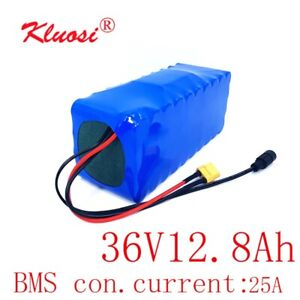 36V 12.8Ah Li-ion Battery 750W 10S4P 42V with 25A BMS for Ebike, Scooter