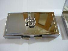 Panda codea40 Fine English Pewter On Mirrored 7 Day Pill box Compact