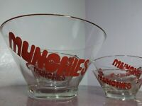 Vintage 60s 70s Glass Munchies Snack Bowl Set Retro Mid Century Modern 420
