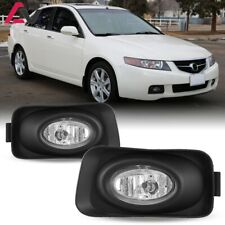 For 2003-2005 Acura TSX Fog Lights (Wiring, Switch, and Bezels) Kit Clear Lens