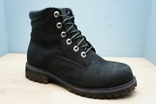 Timberland Mens Size 6.5 UK 6 Inch Premium Black Leather Waterproof Boots