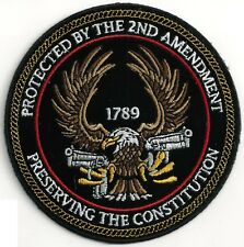 PROTECTED BY THE 2ND AMENDMENT PRESERVING THE CONSTITUTION - IRON or SEW PATCH
