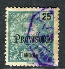 PORTUGUESE ANGOLA;  1902 early PROVISORIO issue used 25r. value