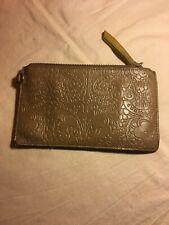 Nancybird clutch purse pouch brown leather zip Nancy Bird cotton