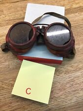 Vintage JACKSON Welding Goggles Motorcycle Aviator Pilot Steampunk F3
