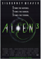 ALIEN 3 + THE FOG + THE CAVE MOVIE POSTER 27X40 NMINT ORIGINALS SIGOURNEY WEAVER