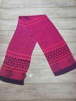 "NWT $115 Harshita 100% Silk Pink/Morning Glory Geometrical Scarf 77 x 14"" Light"