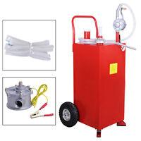 NEW 30 Gallon Gas Caddy Tank Fuel Storage Gasoline Fluid Diesel with Pump & Hose